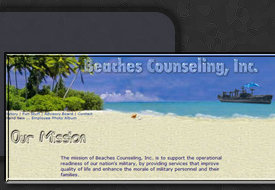 Web Design by Tiffany Richards for Beaches Counseling, Inc. Atlantic Beach, FL